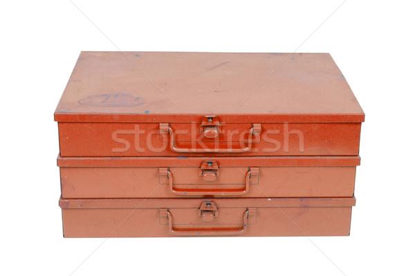 Old metal box isolated Stock photo © michaklootwijk