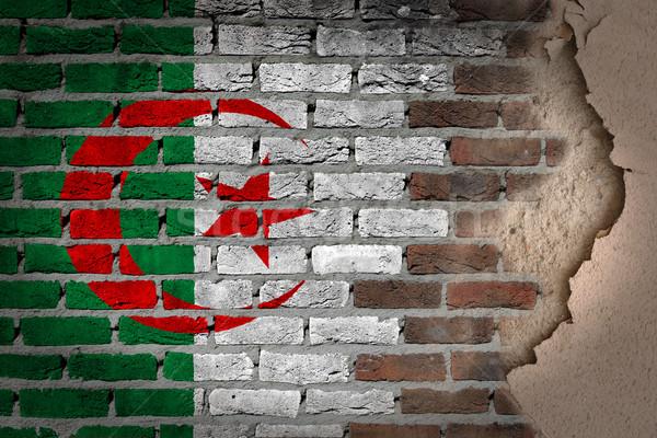 Dark brick wall with plaster - Algeria Stock photo © michaklootwijk