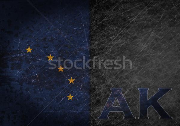 Stok fotoğraf: Eski · paslı · Metal · imzalamak · bayrak · kısaltma