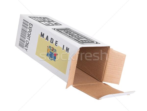 Exporter produit New Jersey papier boîte Photo stock © michaklootwijk