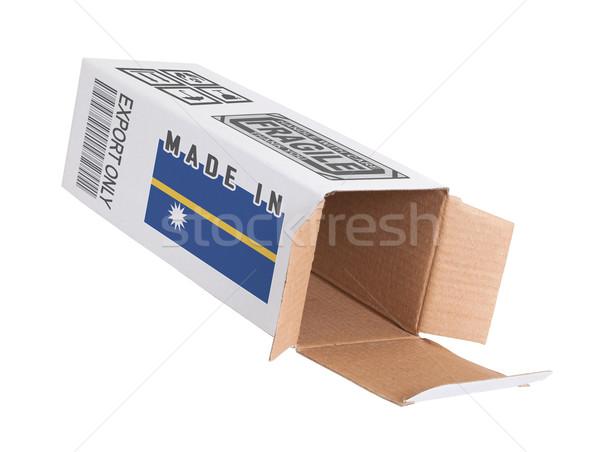 Exportar produto Nauru papel caixa Foto stock © michaklootwijk