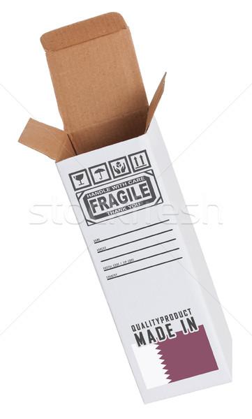Exportar produto Catar papel caixa Foto stock © michaklootwijk
