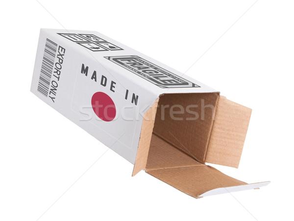 Exporter produit Japon papier boîte Photo stock © michaklootwijk