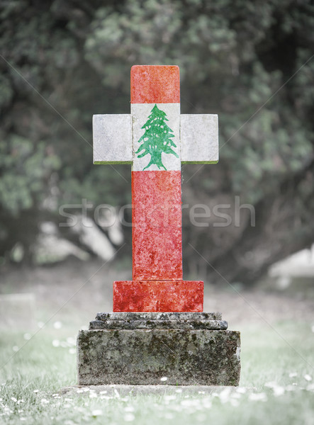 Gravestone in the cemetery - Lebanon Stock photo © michaklootwijk