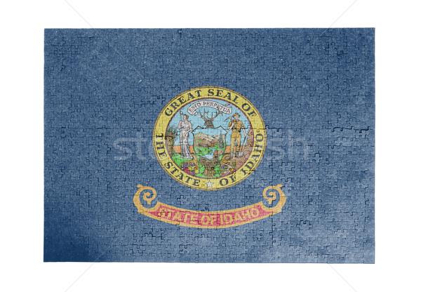 Groot 1000 stukken Idaho vlag Stockfoto © michaklootwijk