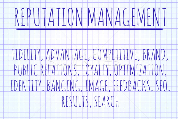 Stock photo: Reputation management word cloud