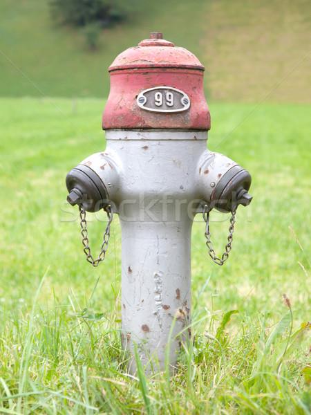 Rusty old Swiss fire hydrant Stock photo © michaklootwijk