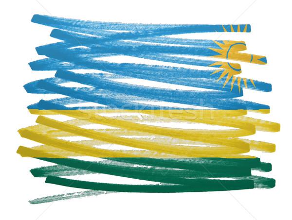 Pavillon illustration Rwanda stylo affaires peinture Photo stock © michaklootwijk