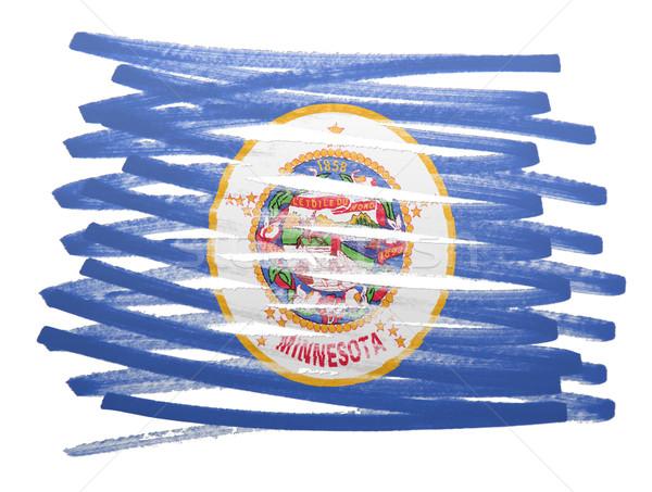 フラグ 実例 ミネソタ州 ペン ビジネス 塗料 ストックフォト © michaklootwijk