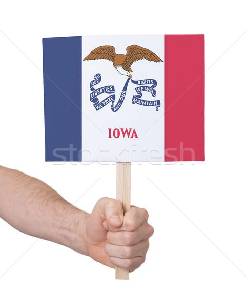 стороны небольшой карт флаг Айова Сток-фото © michaklootwijk