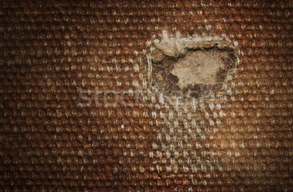 Detail (damage) of an old canvas suitcase, close-up Stock photo © michaklootwijk