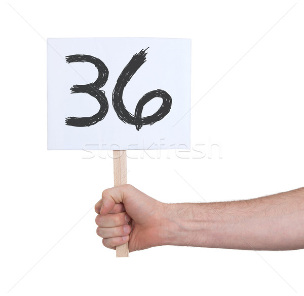 Sign with a number, 36 Stock photo © michaklootwijk