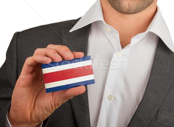 Empresario tarjeta de visita Costa Rica bandera negocios Foto stock © michaklootwijk