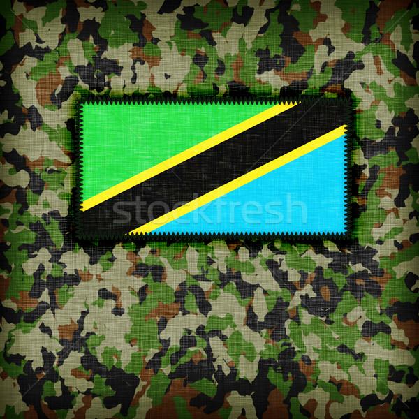 Uniforme Tanzânia bandeira textura abstrato Foto stock © michaklootwijk