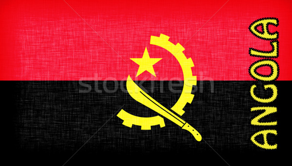 Flag of Angola stitched with letters Stock photo © michaklootwijk