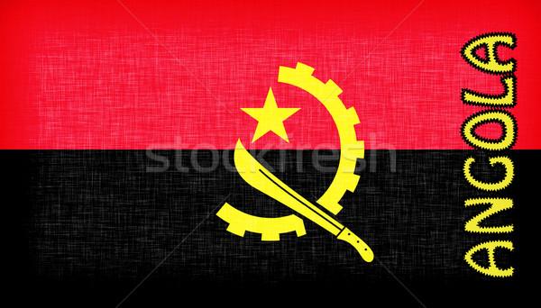 флаг Ангола письма изолированный текстуры фон Сток-фото © michaklootwijk