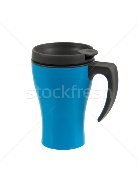 Blue thermos isolated Stock photo © michaklootwijk