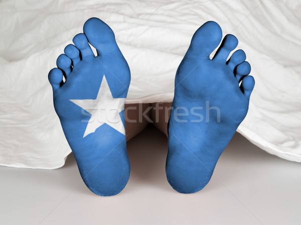 Láb zászló alszik halál Szomália nő Stock fotó © michaklootwijk