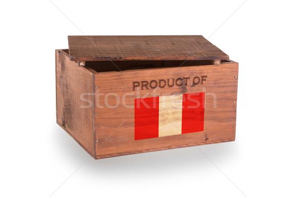 Stock fotó: Fából · készült · láda · izolált · fehér · termék · Peru