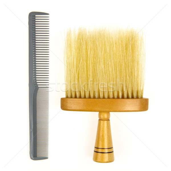 髪 ブラシ 理髪 グレー 櫛 孤立した ストックフォト © michaklootwijk