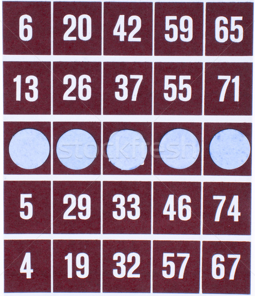 Red bingo card isolated Stock photo © michaklootwijk