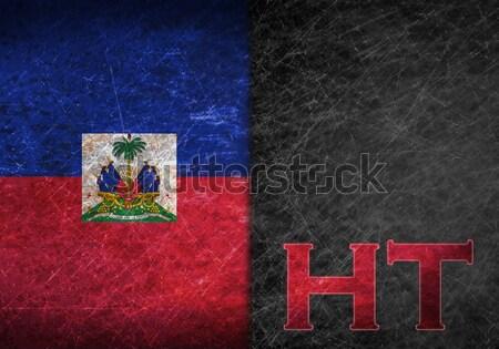 Bayrak yanan Haiti savaş kriz yangın Stok fotoğraf © michaklootwijk