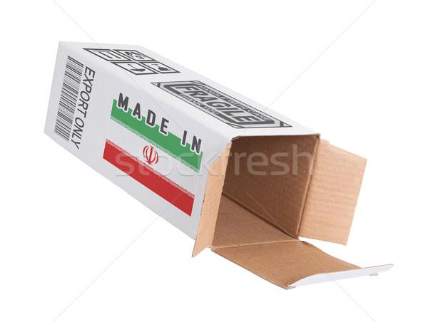 Export termék Irán kinyitott papír doboz Stock fotó © michaklootwijk