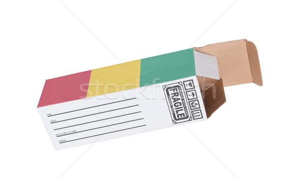 Export termék Guinea kinyitott papír doboz Stock fotó © michaklootwijk