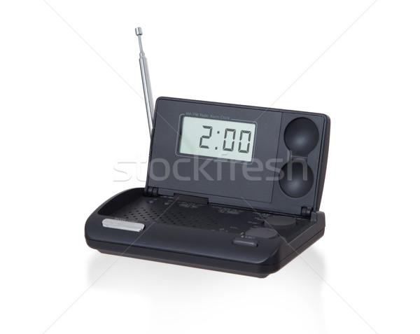 Old digital radio alarm clock isolated on white Stock photo © michaklootwijk