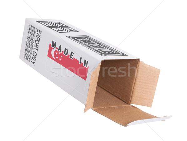 Export termék Szingapúr kinyitott papír doboz Stock fotó © michaklootwijk