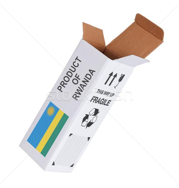Concept of export - Product of Rwanda Stock photo © michaklootwijk