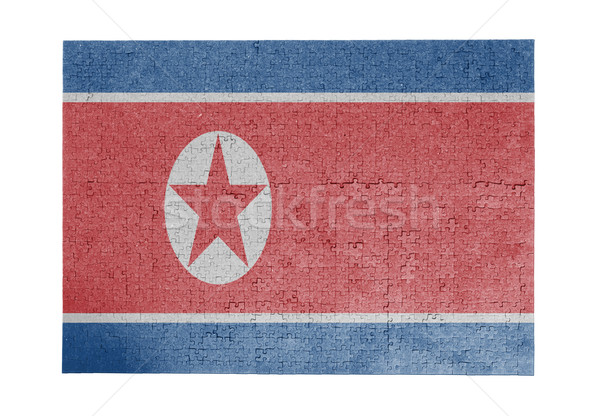 Large jigsaw puzzle of 1000 pieces - North Korea Stock photo © michaklootwijk