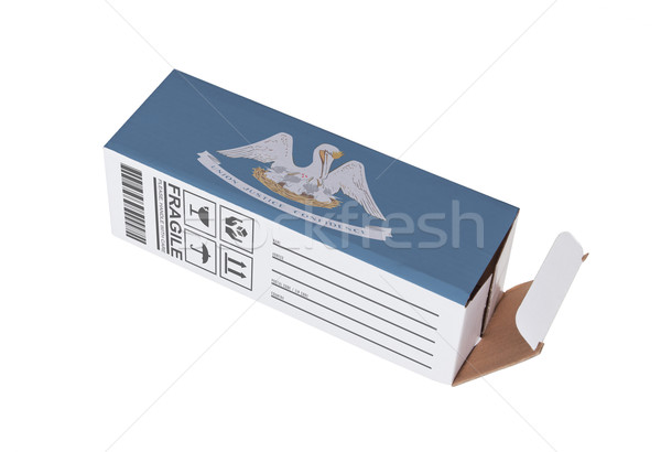 Export termék Louisiana kinyitott papír doboz Stock fotó © michaklootwijk