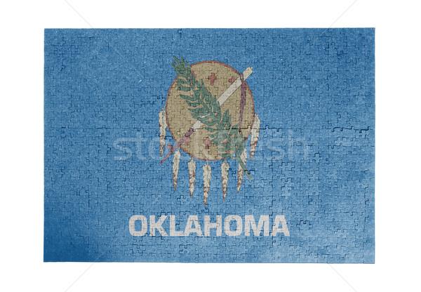 Groot 1000 stukken Oklahoma vlag Stockfoto © michaklootwijk