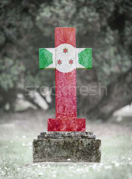 Gravestone in the cemetery - Burundi Stock photo © michaklootwijk