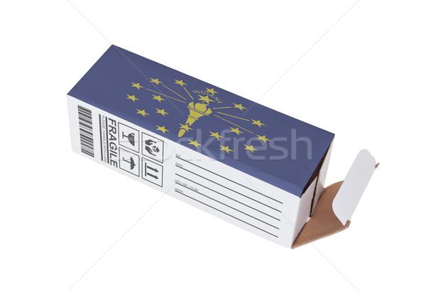 Ihracat ürün Indiana kâğıt kutu Stok fotoğraf © michaklootwijk