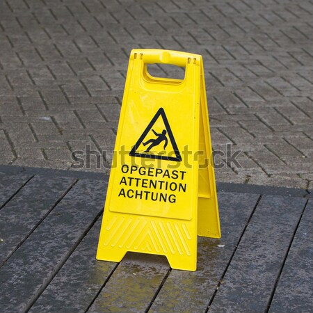 Watch your step sign on the floor Stock photo © michaklootwijk