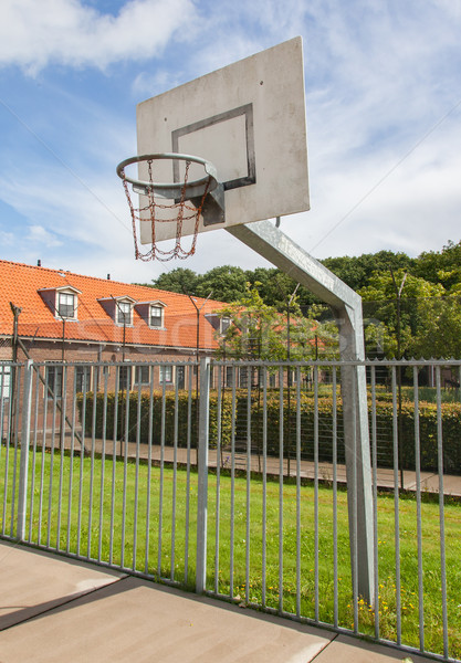 Basketball court in an old jail Stock photo © michaklootwijk
