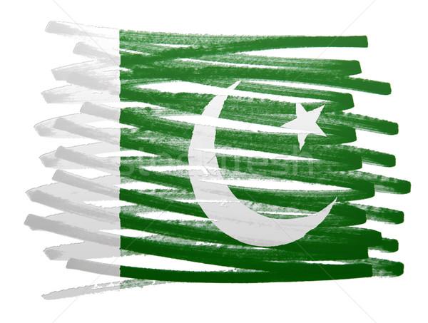 Bayrak örnek Pakistan kalem dizayn sanat Stok fotoğraf © michaklootwijk