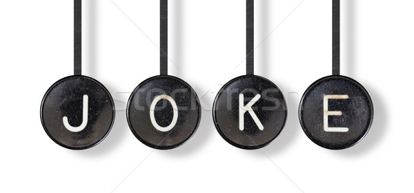 Typewriter buttons, isolated - Joke Stock photo © michaklootwijk