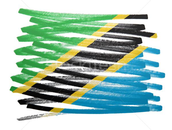 Flagge Illustration Tansania Stift Business malen Stock foto © michaklootwijk