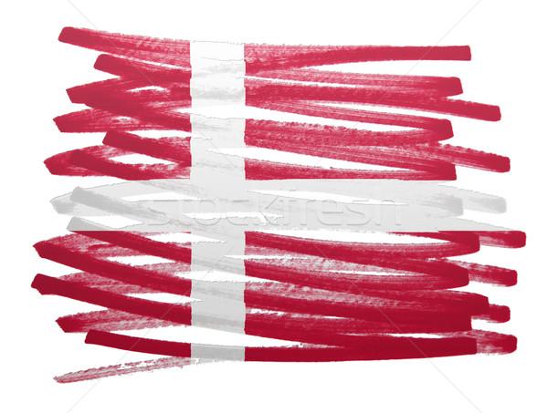 Bandera ilustración Dinamarca pluma negocios pintura Foto stock © michaklootwijk