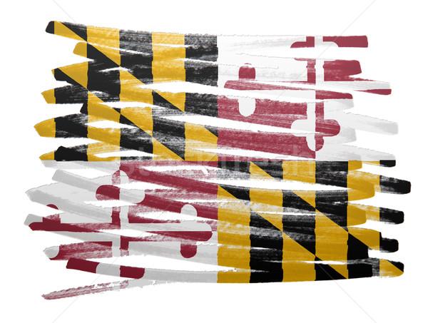 Stock fotó: Zászló · illusztráció · Maryland · toll · üzlet · festék