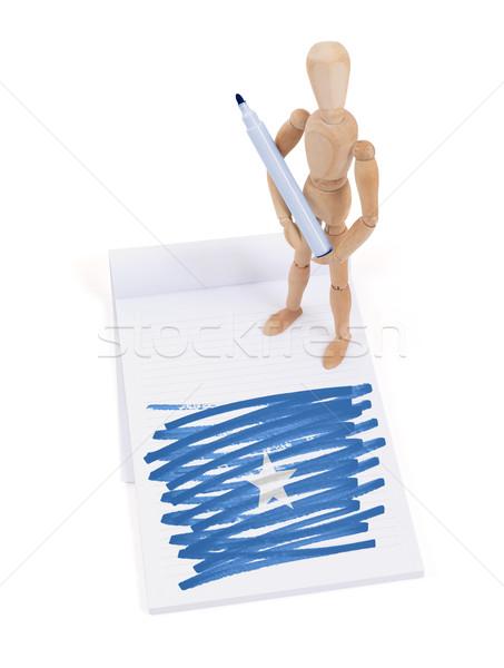 манекен рисунок Сомали флаг бумаги Сток-фото © michaklootwijk