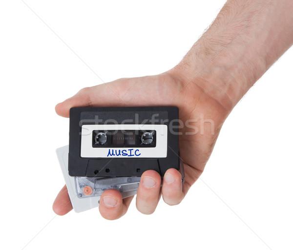 Vintage audio cassette nastro isolato bianco Foto d'archivio © michaklootwijk