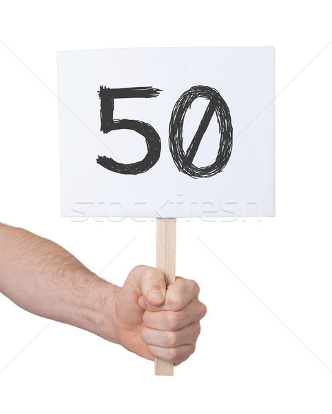 Sign with a number, 50 Stock photo © michaklootwijk
