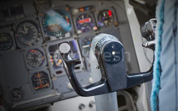 Központ konzol repülőgép öreg számítógép technológia Stock fotó © michaklootwijk