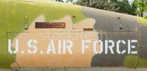 Nariz Vietnã guerra avião aeroporto avião Foto stock © michaklootwijk