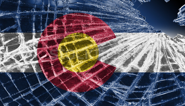 Broken ice or glass with a flag pattern, Colorado Stock photo © michaklootwijk