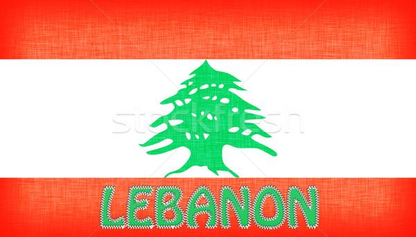 Zászló Libanon levelek izolált textúra terv Stock fotó © michaklootwijk